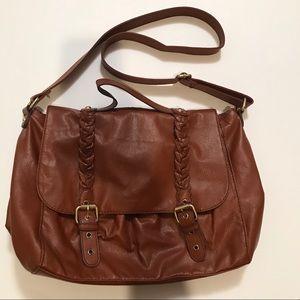 H&M Faux Brown Leather Satchel Purse